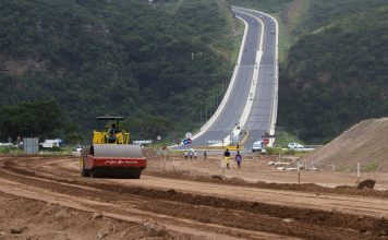 Construction continues on a new road being built in Durban